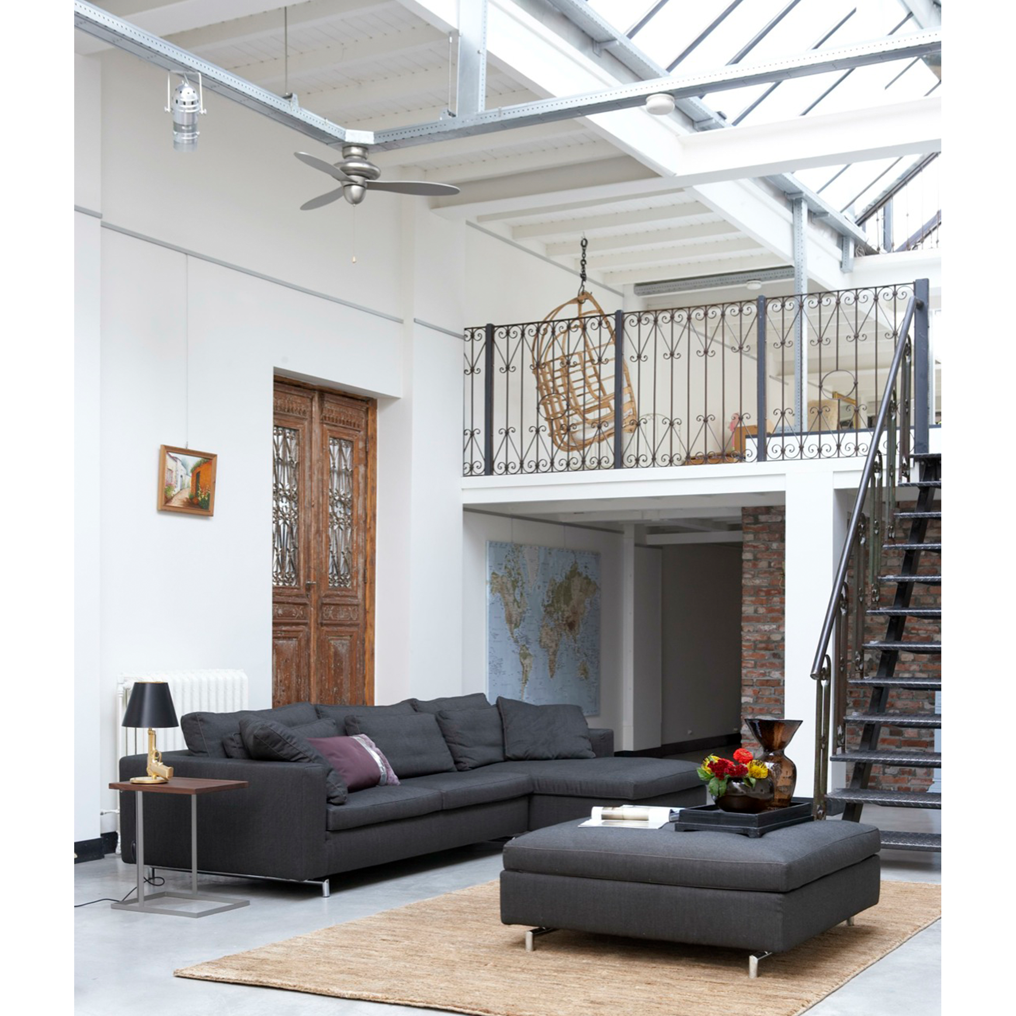 Danca design bank, design bank, ontwerp, model Charm, comfortabele bank met chaise longue,