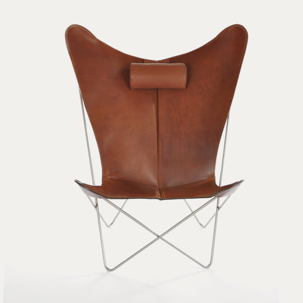 OX Denmarq, KS-chair, Danish Design, Butterfly chair, Scandinavisch design, cognac leder, Vintage