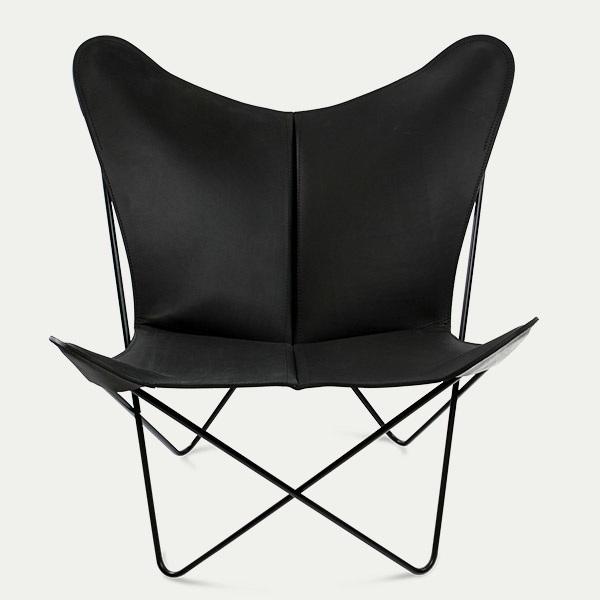 Trifolium, Butterfly chair, OX Denmarq, Trifolium, Danish Design, Butterfly chair, Scandinavisch design, zwart leder, Vintage