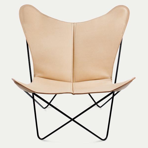 Trifolium, Butterfly chairOX Denmarq, Trifolium, Danish Design, Butterfly chair, Scandinavisch design, naturel leder, Vintage