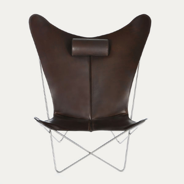 OX Denmarq, KS-chair, Danish Design, Butterfly chair, Scandinavisch design, brown leder, Vintage