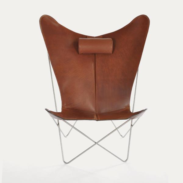 OX Denmarq, KS-chair, Danish Design, Butterfly chair, Scandinavisch design, cognac leder, Vintage