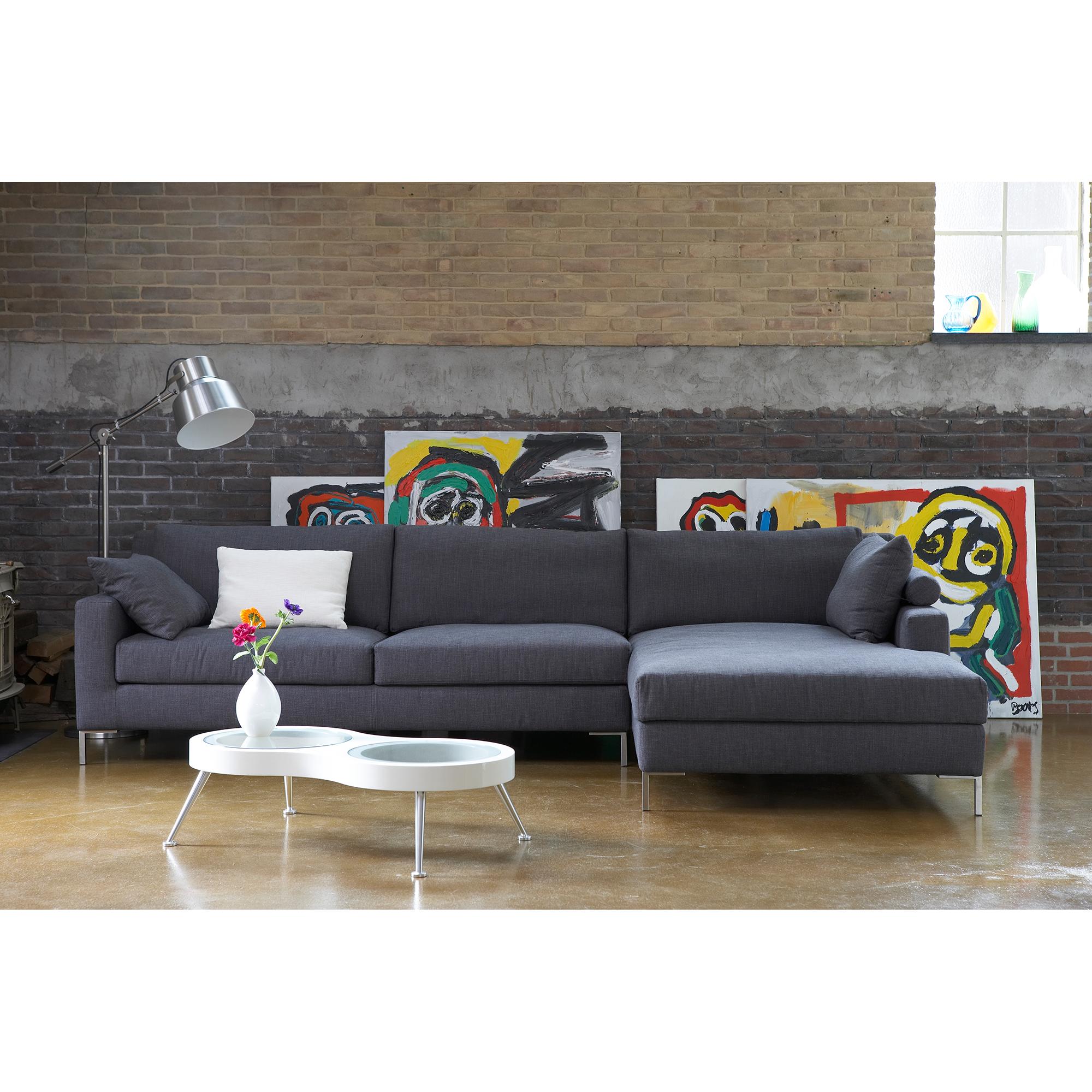 Danca design bank, design bank, ontwerp Mat Linders, model Madeira, comfortabele bank met chaise longue