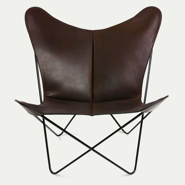 Trifolium, Butterfly chairOX Denmarq, Trifolium, Danish Design, Butterfly chair, Scandinavisch design, bruin leder, Vintage