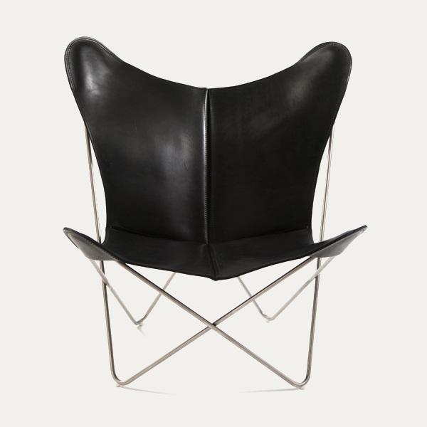 Trifolium, Butterfly chairOX Denmarq, Trifolium, Danish Design, Butterfly chair, Scandinavisch design, zwart leder, Vintage