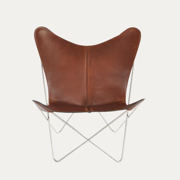 Trifolium, Butterfly chairOX Denmarq, Trifolium, Danish Design, Butterfly chair, Scandinavisch design, cognac leder, Vintage
