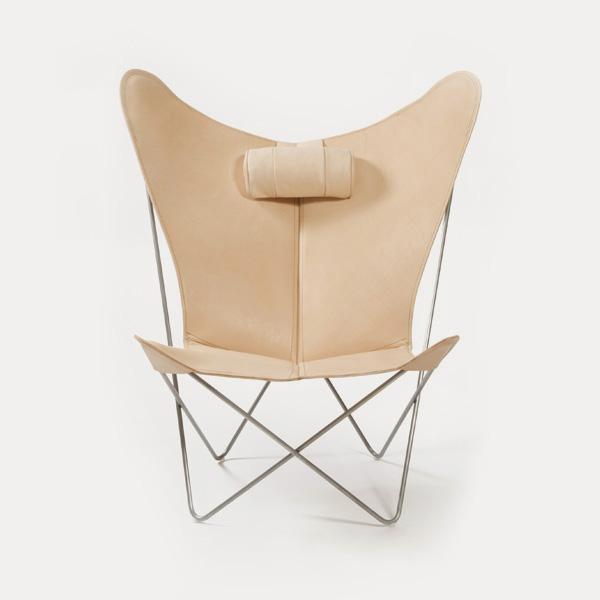 OX Denmarq, KS-chair, Danish Design, Butterfly chair, Scandinavisch design, natural leder, Vintage