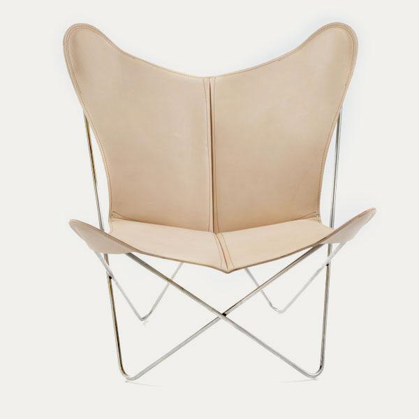 Trifolium, Butterfly chair, OX Denmarq, Trifolium, Danish Design, Butterfly chair, Scandinavisch design, naturel leder, Vintage